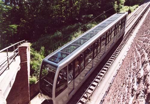 The lower modern funicular